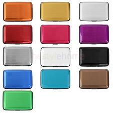 Waterproof Business ID Credit Card Wallet Holder Stripe Aluminum Pocket Case Box