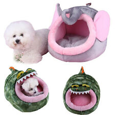 Doggy Puppy Kennel Pet Dog Cat Warm Soft Bed House Cushion Basket Pad Tent