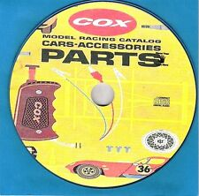1960'S COX SLOT CAR CATALOG CARS-ACCESSORIES-PARTS PLUS 3 MORE CATALOGS ON A CD