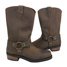 NEW Mens Xelement Brown Leather Boots Motorcycle Work Harness Boots Brown 1458