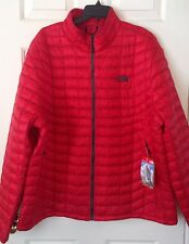 $199 NWT Mens The North Face Thermoball Full Zip Jacket Coat TNF Red Asphalt