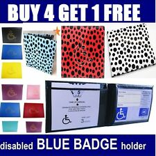 Disabled Blue Parking Badge Holder Protector Cover Wallet PU Leather *disable