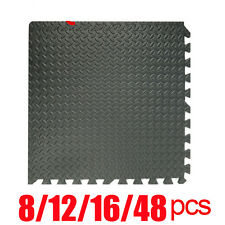 BLACK INTERLOCKING EVA FOAM MATS TILES GYM PLAY GARAGE WORKSHOP FLOOR MAT