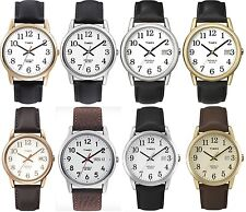Timex Classic Gents Watch - Easy Reader - Indiglo - Leather Strap