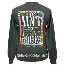 "Girlie Girl Originals ""First Rodeo"" Dark Heather Long Sleeve Unisex Fit T-Shirt"