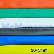 10mm 10/5mm Heat Shrinking Tubes Various Legnth Colour Wire Insulation Sleeve