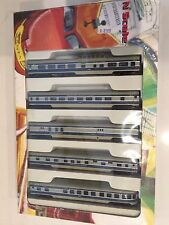 CON-COR N Scale 5 Car Smoothside Passenger Set MoPac Missouri Pacific 4030 USED!