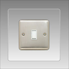 Clear See Through Light Switch Surround Finger Plate Panel Cover Gloss Acrylic