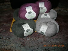 """KNIT ONE CROCHET TOO """"PEA PODS"""" YARN 100% COTTON CHOICE OF THREE COLORS"""