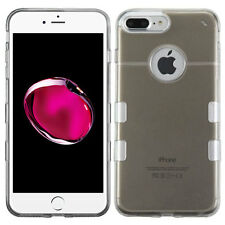 For Apple iPhone 7 Plus Case, Transparent Gummy Cover [Stylus+ Screen Protector]