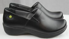 Dansko Work Wonders Coral Black Leather Doctor Nurses Shoes Orthotic Clogs
