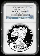 2012-W Proof Silver American Eagle - NGC PF70 Ultra Cameo - Early Releases Label