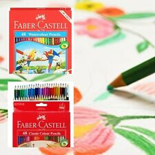 FABER-CASTELL CLASSIC & WATER COLOUR PENCILS SET OF 48 COLOUR in Cardboard Box..