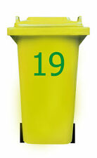 WHEELIE BIN NUMBER STICKER 20cm vinyl decal house self adhesive dustbin large