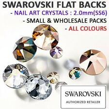 SWAROVSKI Flat Back Crystals Rhinestones Gems: NAIL ART: 2.0mm(SS6) ALL COLOURS