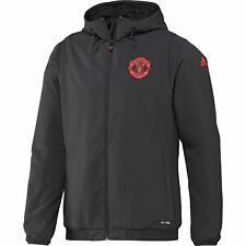 adidas Childrens Kids Football Manchester United Cup Training Jacket - Brown
