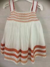 SMOCK LAYERED BABY GIRLS DRESS WITH MATCHING PANTS 0 3 6 9 12 18 24 MONTHS