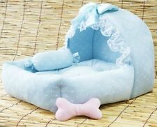 New Princess Design Cute Pink Blue Pet Dog Cat Sofa Bed House With Toy (US)