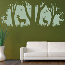 Deer Wall Sticker Scene Tree Wall Decal Kids Bedroom Living Room Home Decor