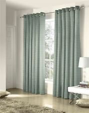 SAVOY DUCK EGG EMBROIDERED CHAIN LINK LINED RING TOP CURTAINS #ZTIR *AS*