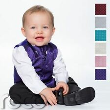 Baby Boys Waistcoat Suit, Page Boy Suits, Black Trousers, Diamond Pattern
