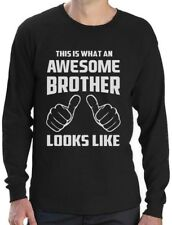 This Is What An Awesome Brother Looks Like Gift Long Sleeve T-Shirt Brother