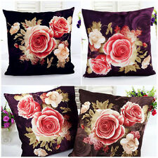 Retro Printing Dyeing Peony Sofa Bed Home Decor Pillow Case Cushion Cover Decor
