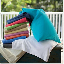 """600-Thread-Count 1PC Super Soft Fitted Sheet Solid 100% Cotton 26"""" Deep Pocket"""