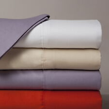 """600-Thread-Count 1PC Super Soft Fitted Sheet Solid 100% Cotton 32"""" Deep Pocket"""