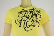 FOX RIDERS CO WOMEN'S NEON YELLOW GRAPHIC T-SHIRT sizes XS/X-Small/Small
