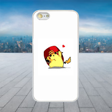 Pikachu Cool Hat Pokemon White Hard Phone Case Cover Fits Iphone Models