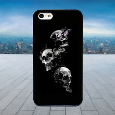 Gothic Skulls Smoke Black Hard Phone Case Cover Fits Iphone Models