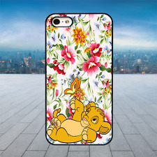Simba Lion King Cub Black Rubber Phone Case Cover Fits Iphone Models