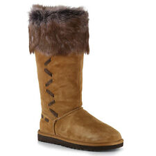 BRAND NEW UGG AUSTRALIA WOMEN ROSANA SUEDE LEATHER BOOTS CHESTNUT SIZES 7-8