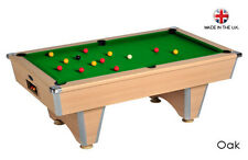 Oak Elite Slate Bed Pub Style Pool Table -  Free Delivery to most of UK