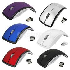 2.4GHz Wireless Foldable Optical Mouse Mice USB Receiver For Computer PC Laptop