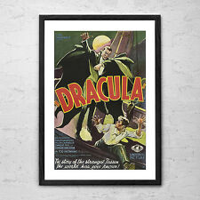 Dracula 1931 - Framed Vintage Horror Movie Man Cave Poster Print
