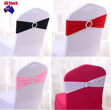 100PCS  Wedding Event  Party Lycra Spandex Chair Cover Bands Sashes+Round buckle