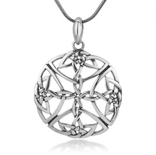 Infinity CELTIC KNOT Open Pendant Necklace! Sterling Silver Irish Jewelry 925
