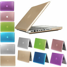 For Macbook Air 11 13 Pro 15 Retina 12 Glossy Metallic Rubberized PC Case Cover