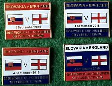 Slovakia v England 2018 World Cup Qualifier, City Arena Trnava 2016 Pin Badge