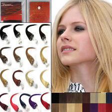 26Inch 100S AAAAA Remy Human Hair Extensions Easy Loops Micro Rings Beads Tipped