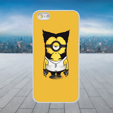 FUNNY WOLVERINE MINION 2 White Rubber Phone Case Cover Fits Iphone Models