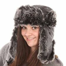New Mens Womens Unisex Fur Digi Effect Trapper Warm Winter Thermal Hat AW115