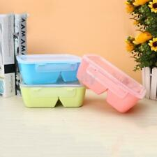 Portable Microwave Lunch Box Picnic Bento Food Container Storage Box with Spoon