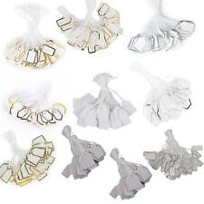 500 Pcs Label Tie String Strung For Jewelry Merchandise Display Price Tags