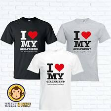 I LOVE MY GIRLFRIEND MENS T SHIRT FUNNY NOVELTY VALENTINES DAY BOYFRIEND GIFT
