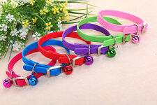Cute Lovely  Elastic Pet Cat Puppy Dog Collar Neck With the Bell for Small Dog