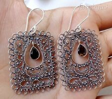 Gemstone Solid Silver, 925 Balinese Traditional Earring 24574
