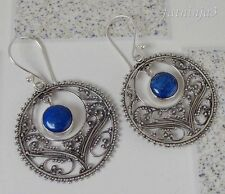 Gemstone Solid Silver, 925 Balinese Traditional Earring 33176